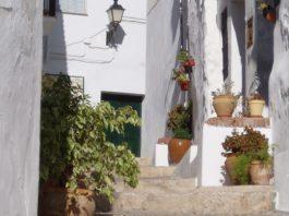imagen de una calle de pueblo en la Axarquía