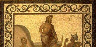 Representación de Hipócrates sobre un grabado